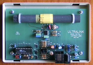 UltraLink Model 325 WWVB Time Receiver, inside view