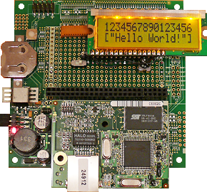 Rabbit RCM4010 LCD example program2