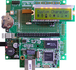 Rabbit RCM4010 LCD example program8